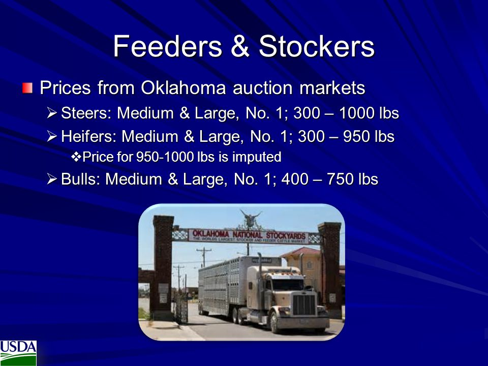 Feeders & Stockers Prices from Oklahoma auction markets