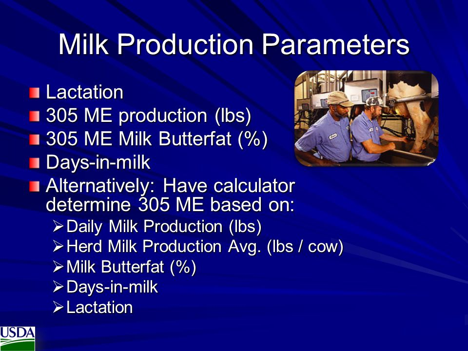 Milk Production Parameters