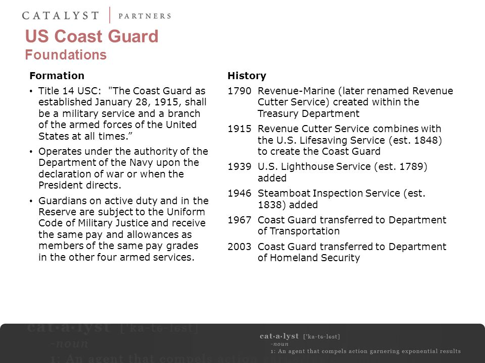 US Coast Guard Foundations