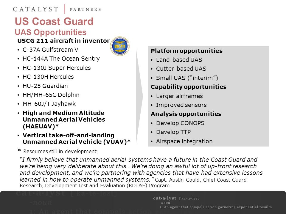 US Coast Guard UAS Opportunities