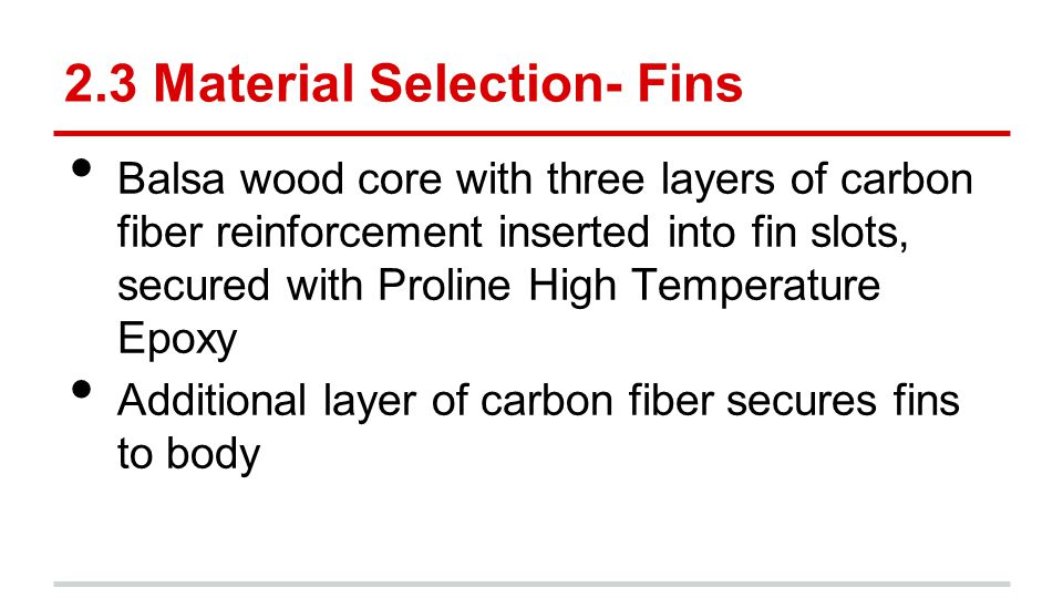 2.3 Material Selection- Fins