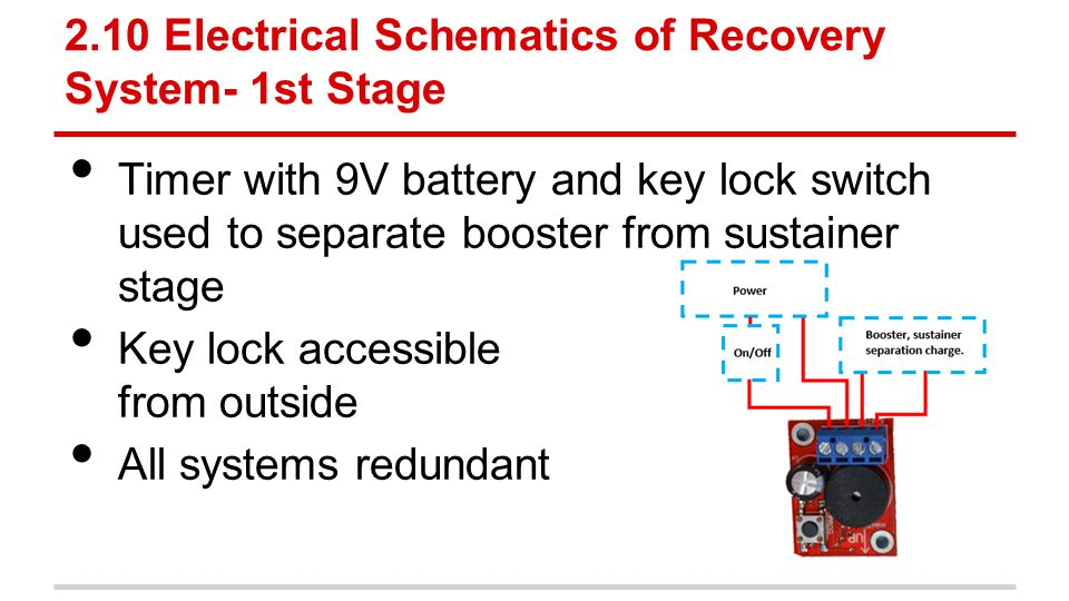 2.10 Electrical Schematics of Recovery System- 1st Stage