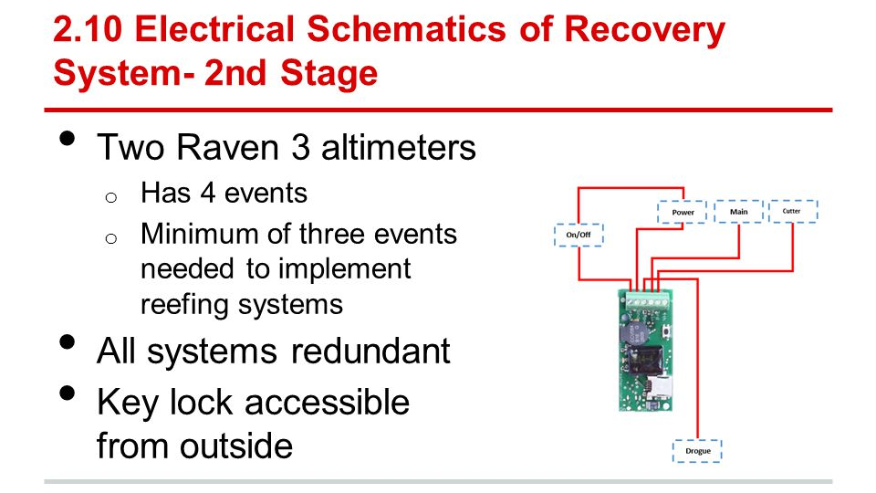 2.10 Electrical Schematics of Recovery System- 2nd Stage