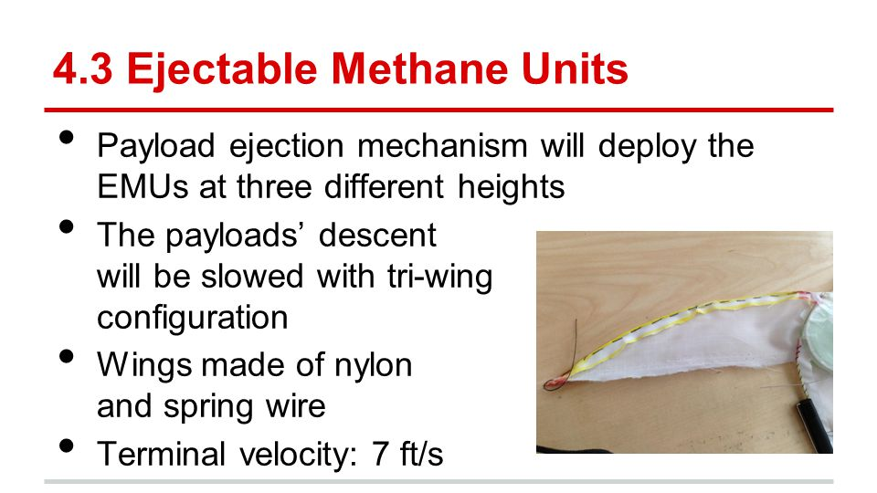 4.3 Ejectable Methane Units