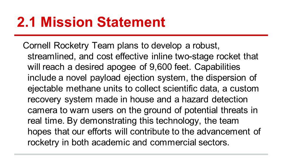 2.1 Mission Statement