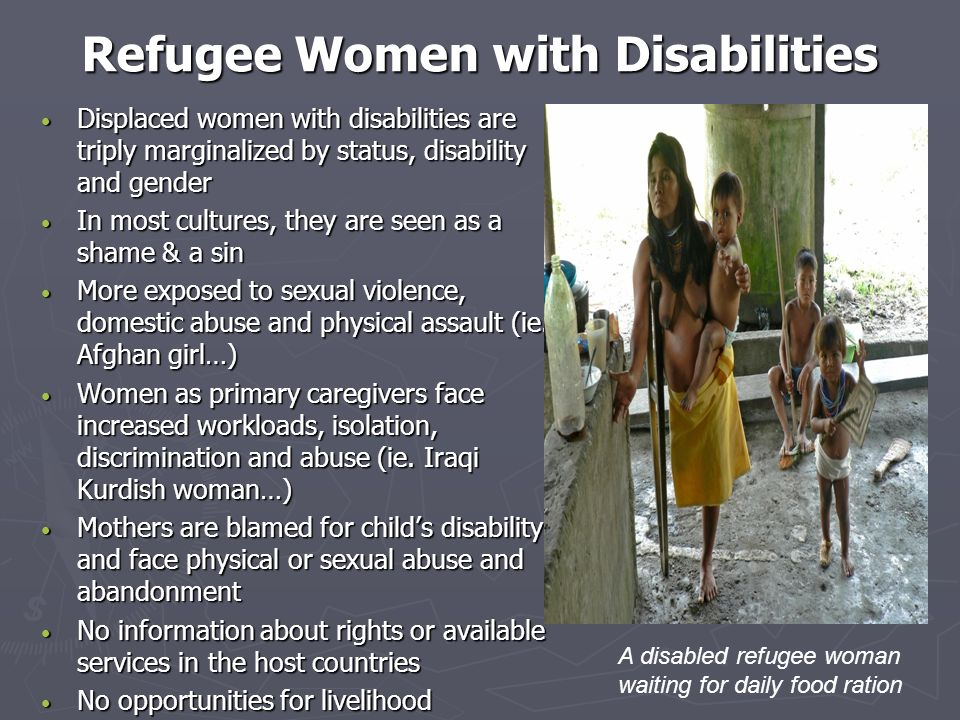 Refugee Women with Disabilities