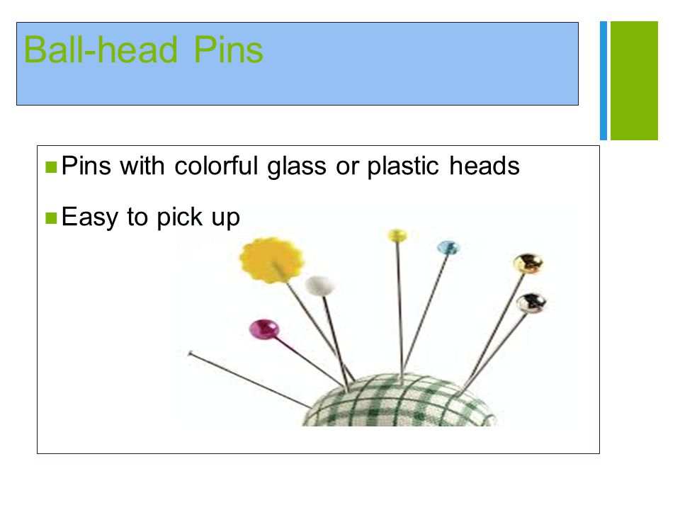 Ball-head Pins Pins with colorful glass or plastic heads
