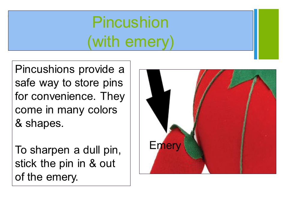 Pincushion (with emery)