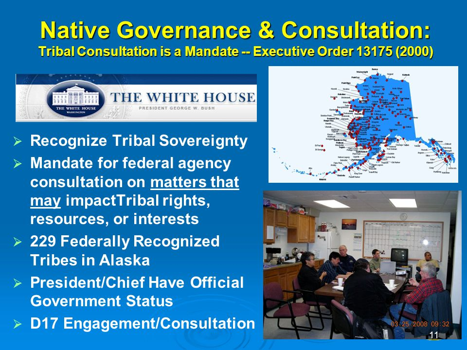 4/12/2017 Native Governance & Consultation: Tribal Consultation is a Mandate -- Executive Order 13175 (2000)