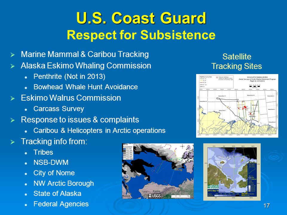 U.S. Coast Guard Respect for Subsistence