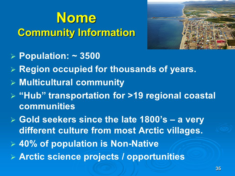 Nome Community Information