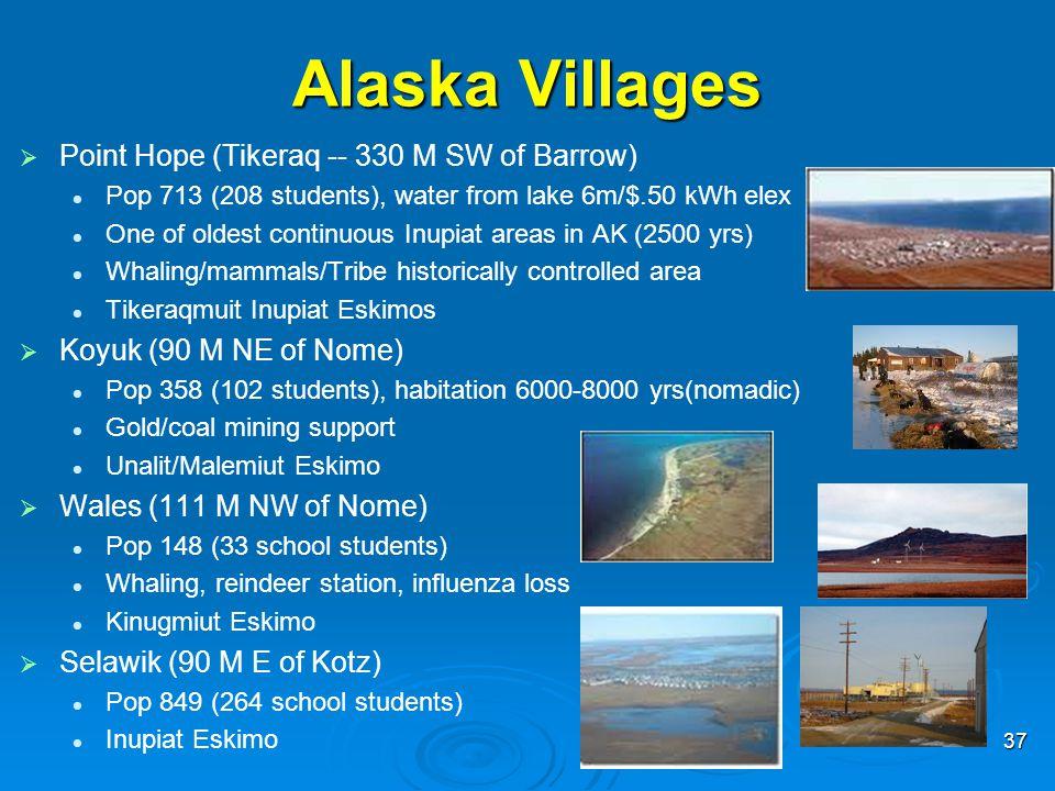Alaska Villages Point Hope (Tikeraq -- 330 M SW of Barrow)