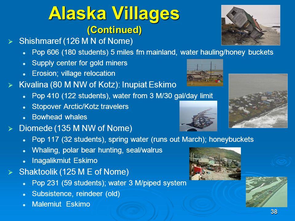 Alaska Villages (Continued)