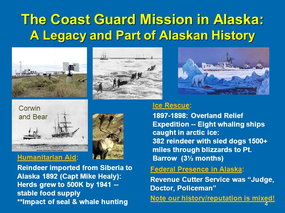 4/12/2017 The Coast Guard Mission in Alaska: A Legacy and Part of Alaskan History. Corwin and Bear.
