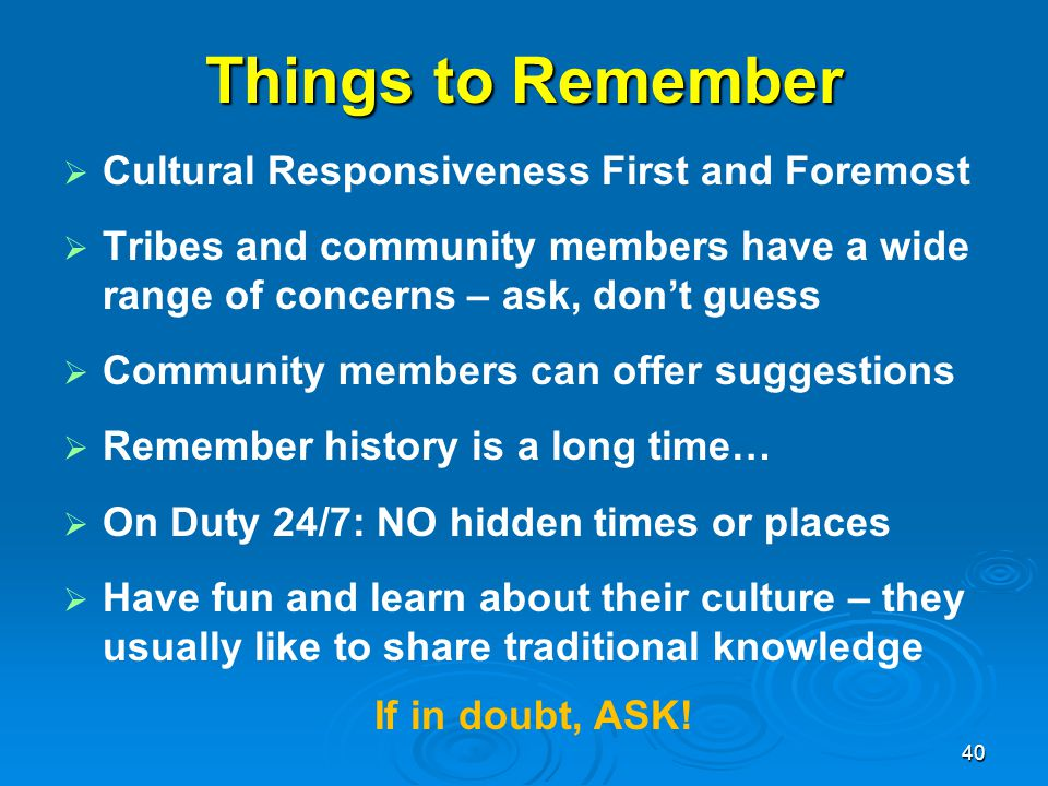 Things to Remember Cultural Responsiveness First and Foremost