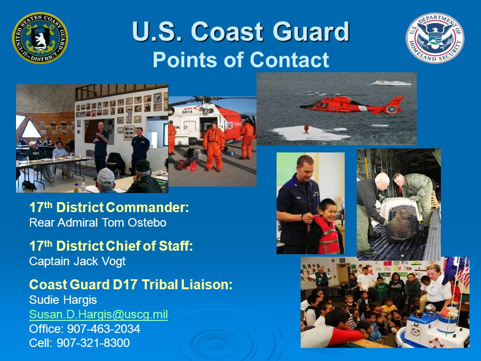 U.S. Coast Guard Points of Contact