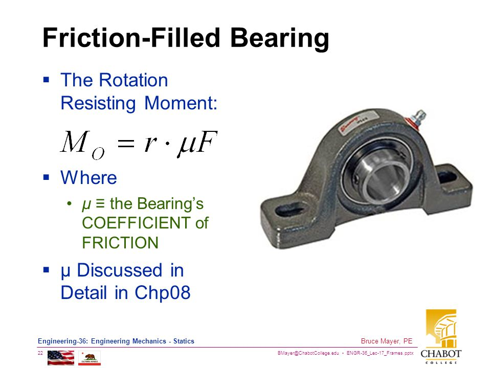 Friction-Filled Bearing