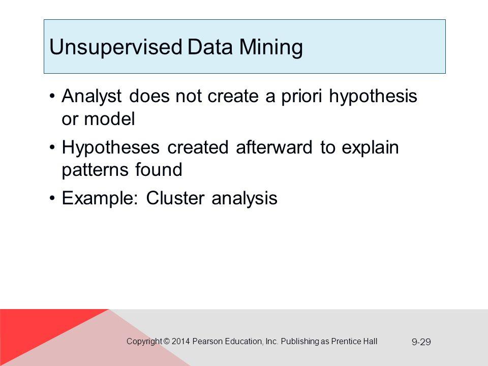 Unsupervised Data Mining