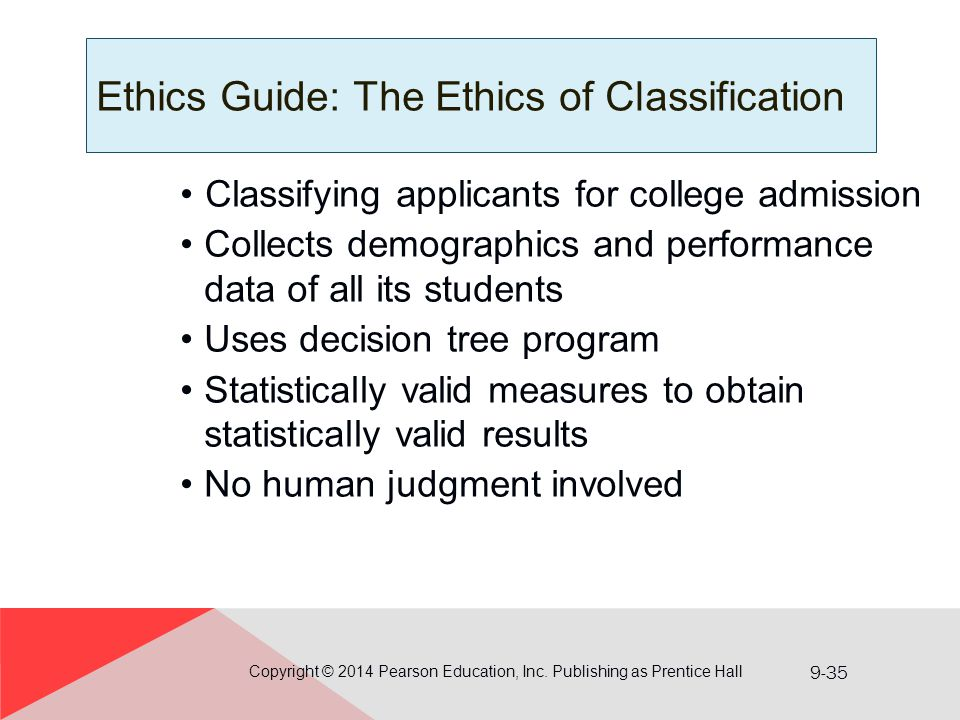 Ethics Guide: The Ethics of Classification