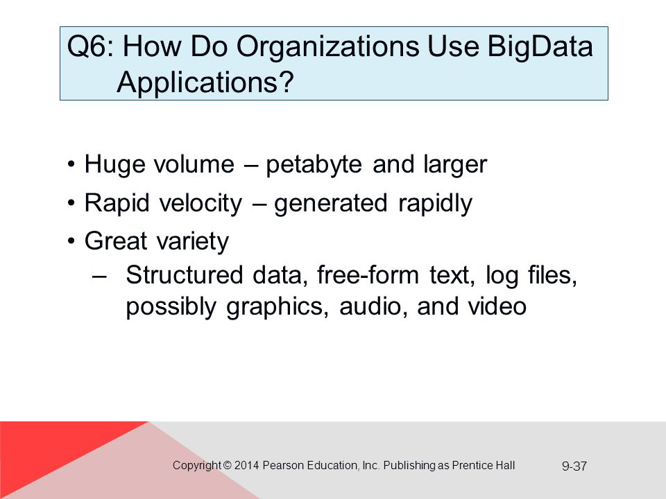 Q6: How Do Organizations Use BigData Applications