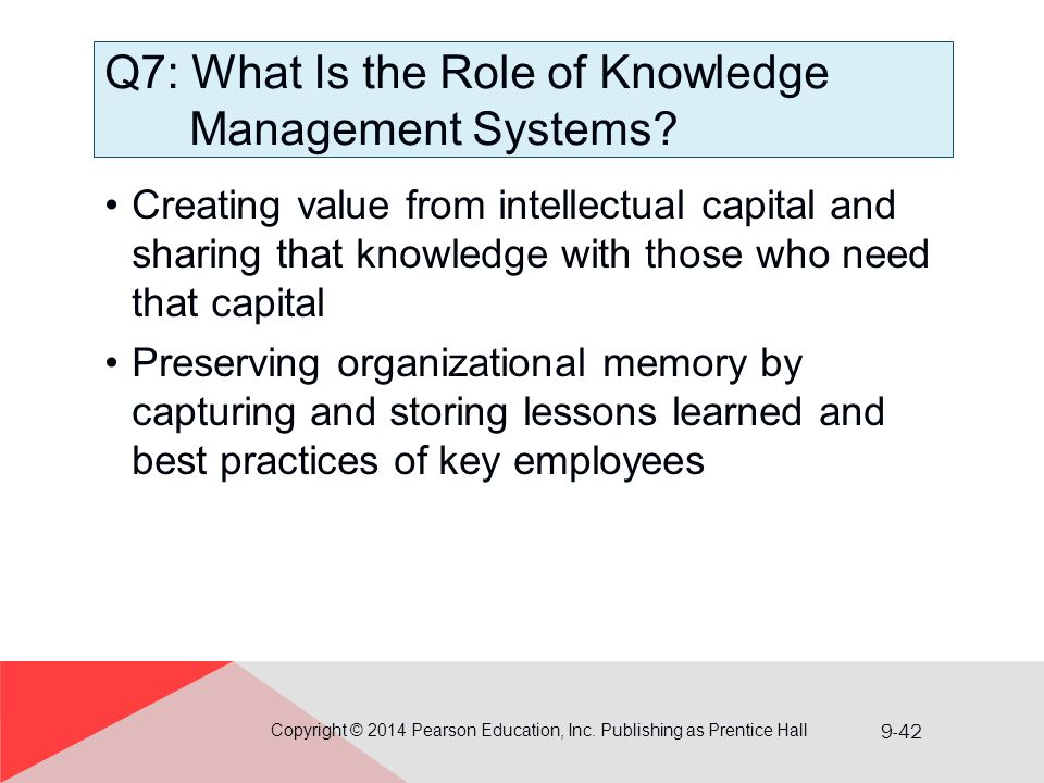 Q7: What Is the Role of Knowledge Management Systems
