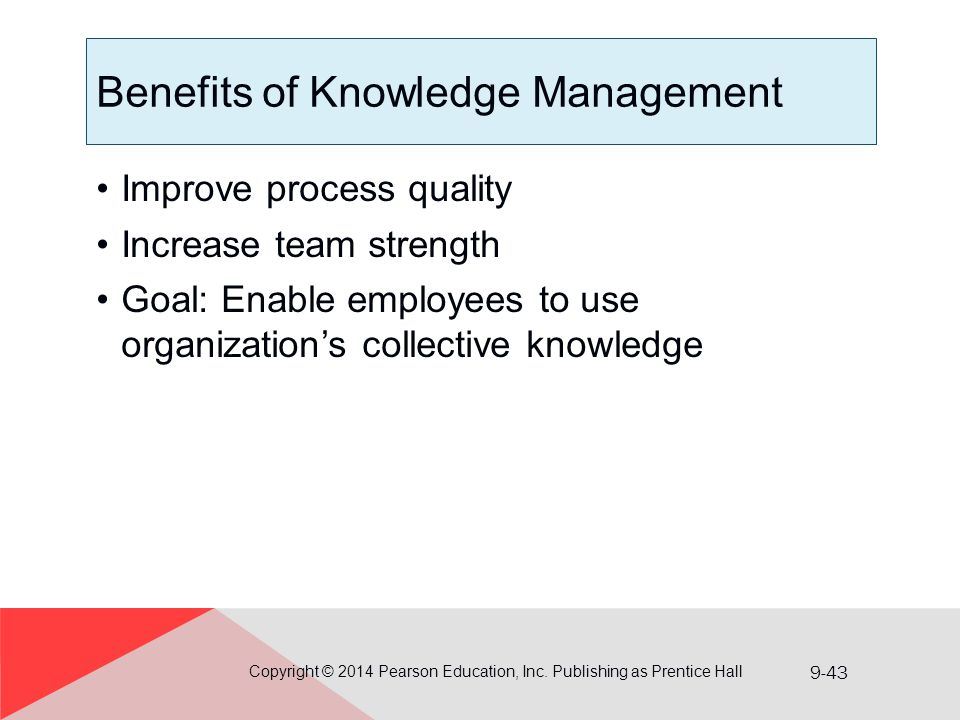 Benefits of Knowledge Management
