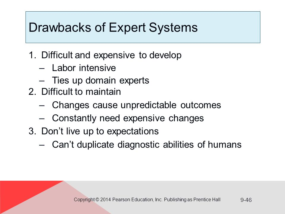Drawbacks of Expert Systems