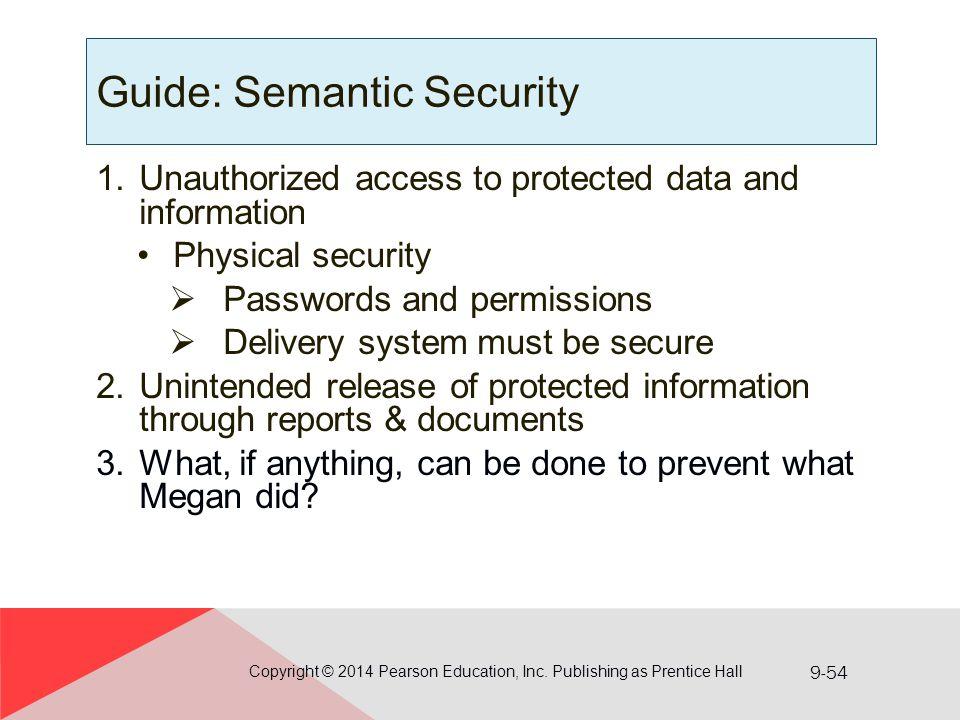 Guide: Semantic Security