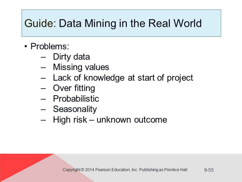 Guide: Data Mining in the Real World