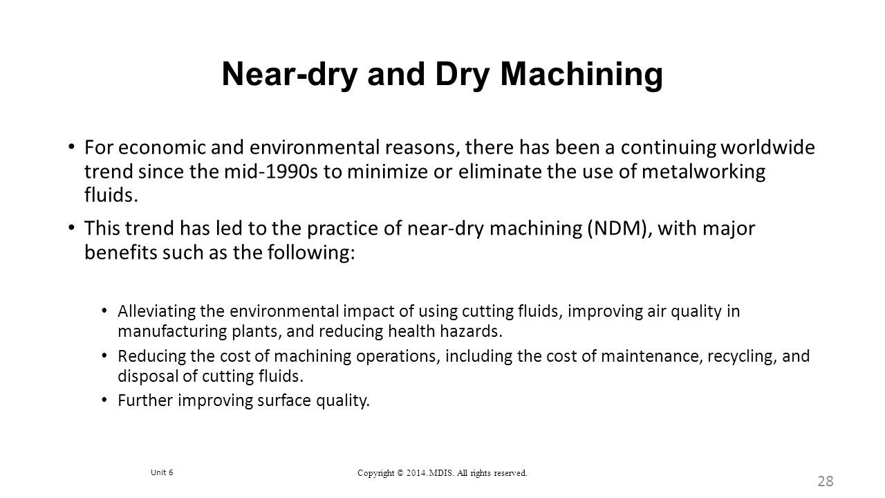 Near-dry and Dry Machining