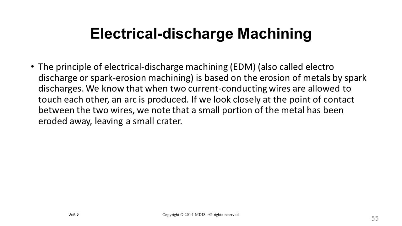 Electrical-discharge Machining
