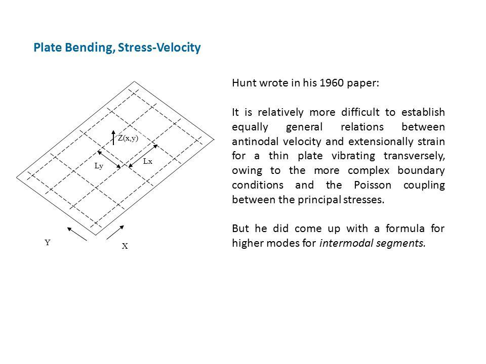 Plate Bending, Stress-Velocity