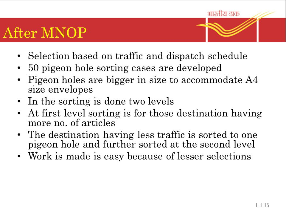 After MNOP Selection based on traffic and dispatch schedule
