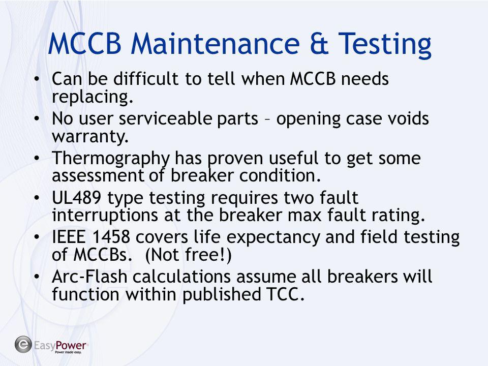 MCCB Maintenance & Testing