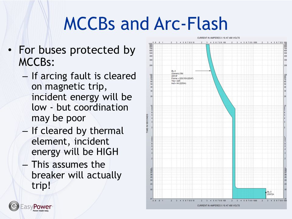 MCCBs and Arc-Flash For buses protected by MCCBs: