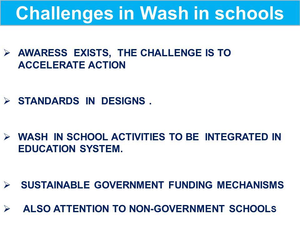 Challenges in Wash in schools