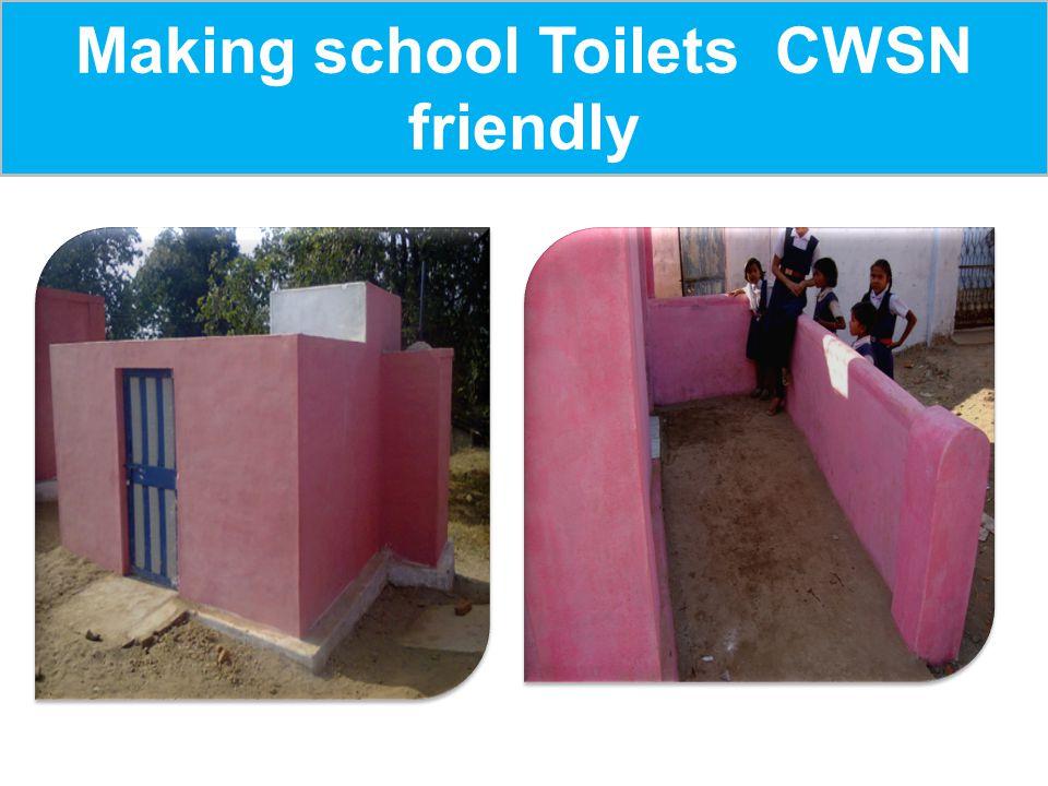 Making school Toilets CWSN friendly