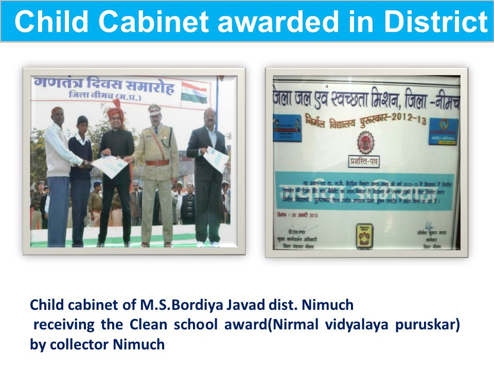 Child Cabinet awarded in District