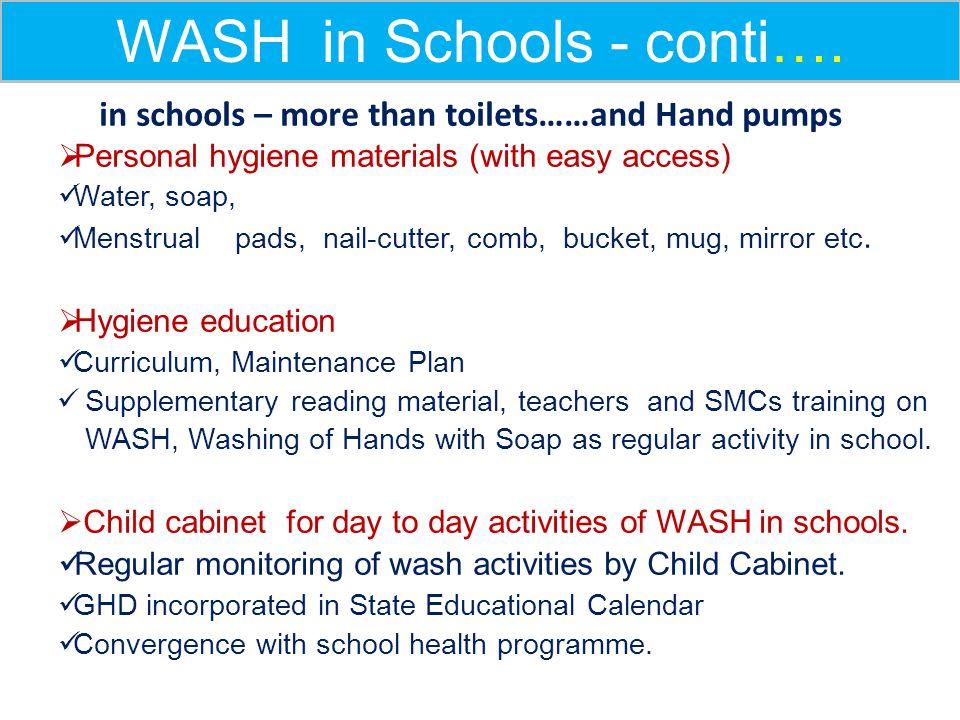 WASH in Schools - conti….