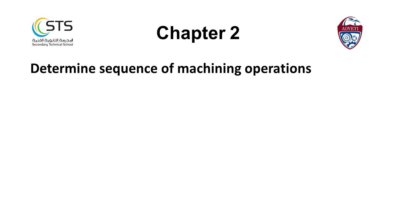 Chapter 2 Determine sequence of machining operations