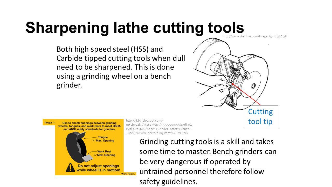 Sharpening lathe cutting tools