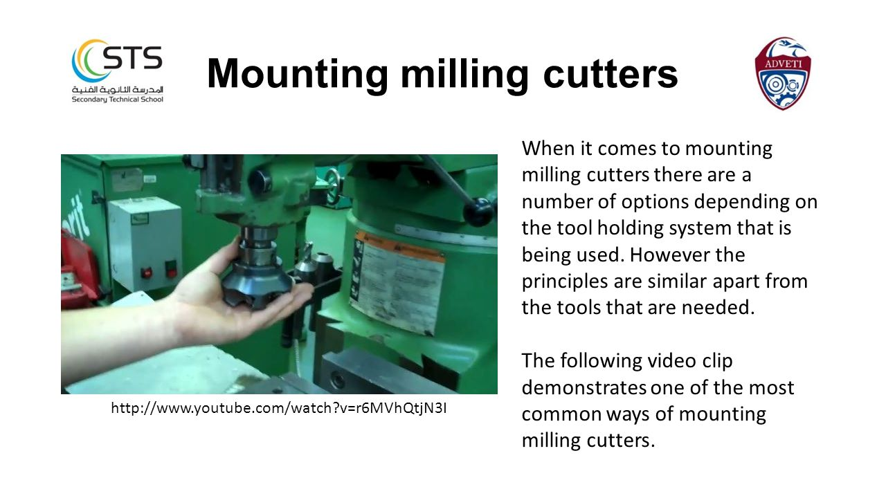 Mounting milling cutters
