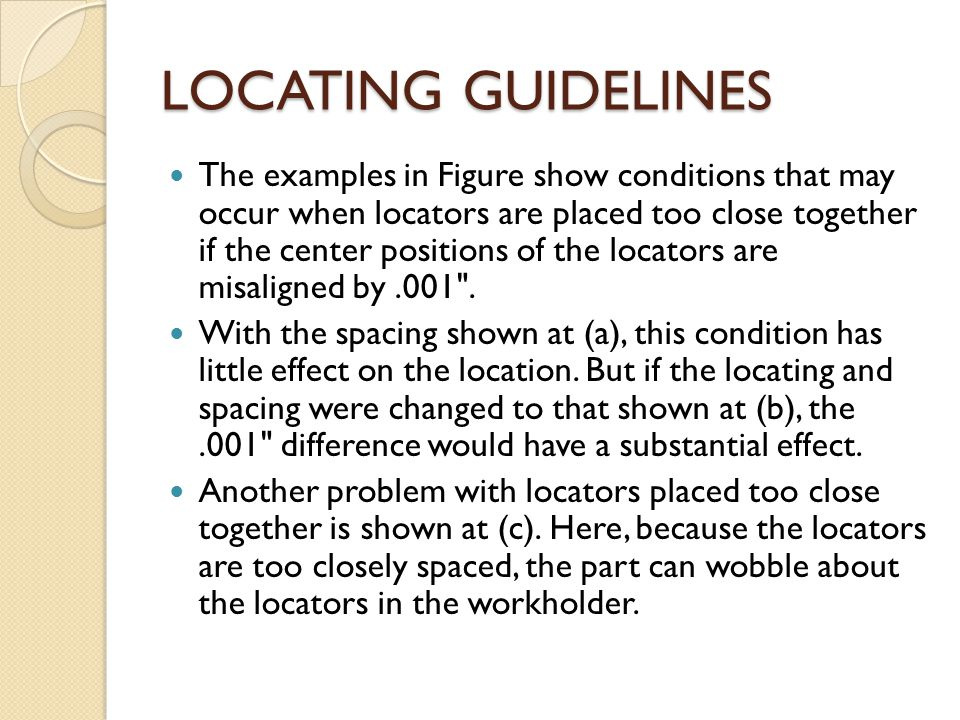 LOCATING GUIDELINES
