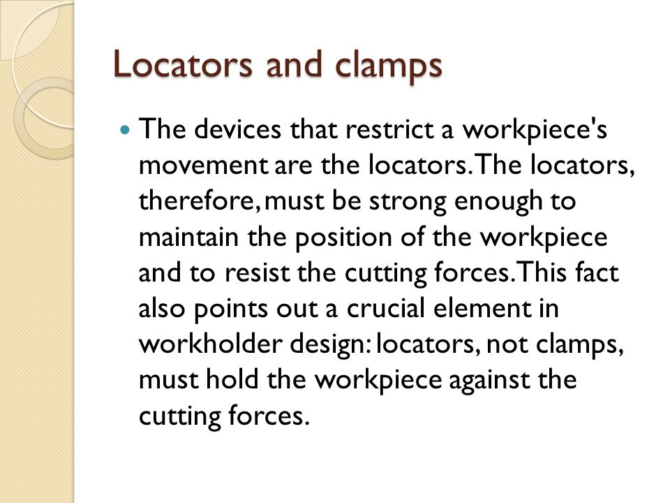 Locators and clamps