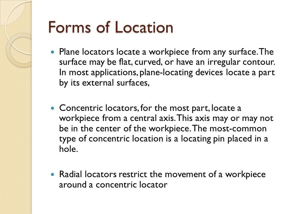 Forms of Location