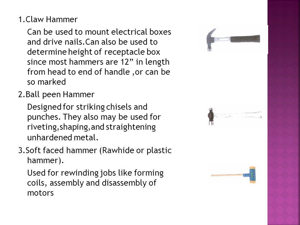 1.Claw Hammer