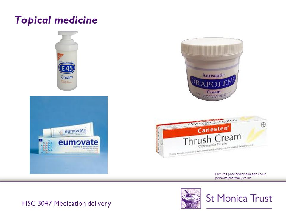 Topical medicine HSC 3047 Medication delivery