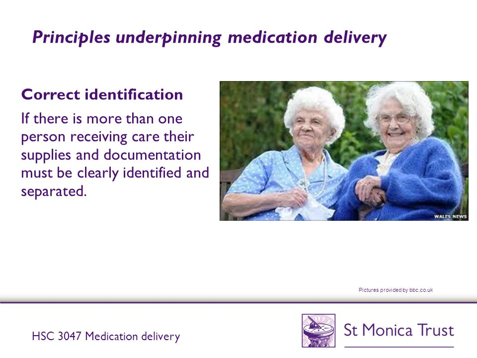 Principles underpinning medication delivery
