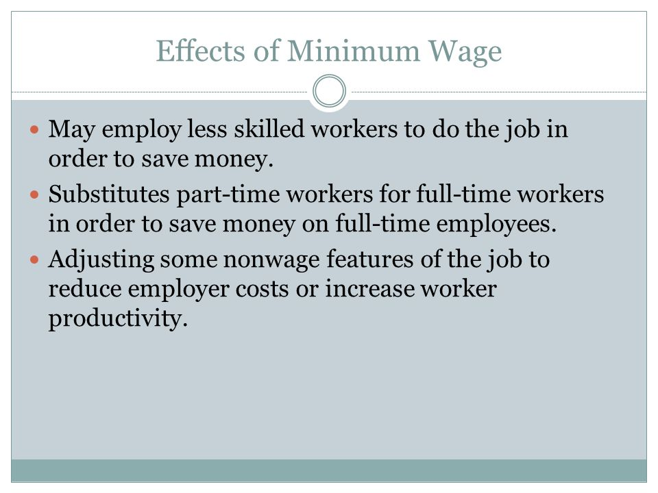 Effects of Minimum Wage