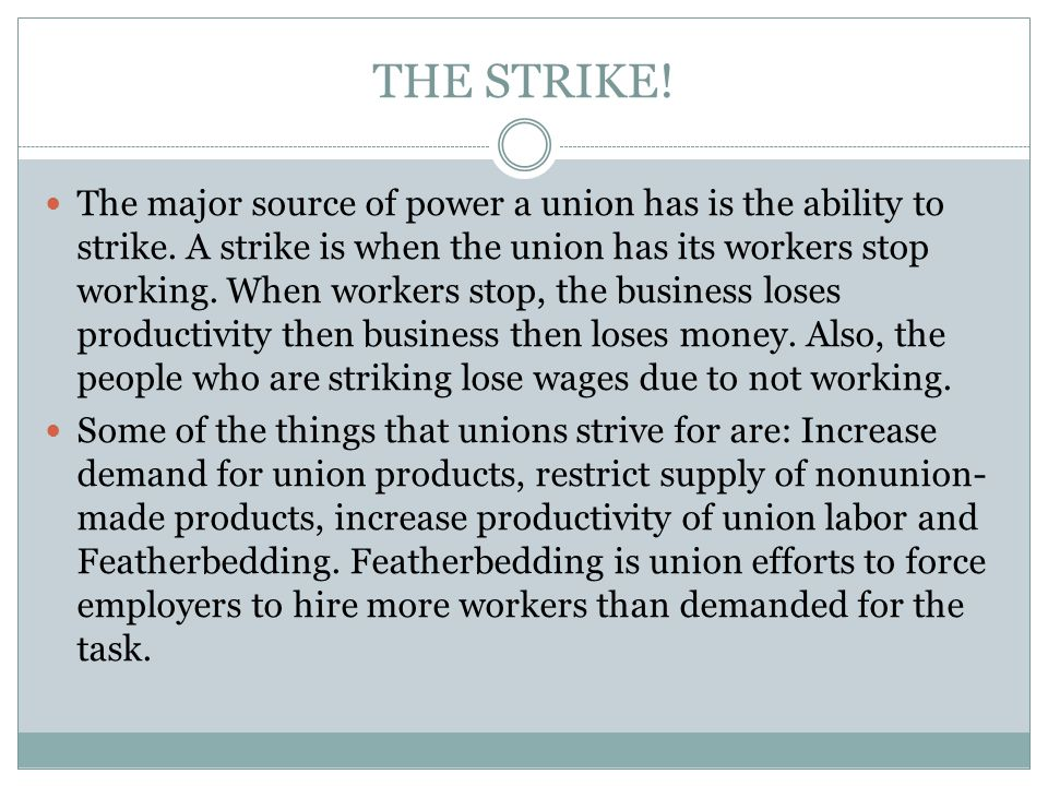 THE STRIKE!